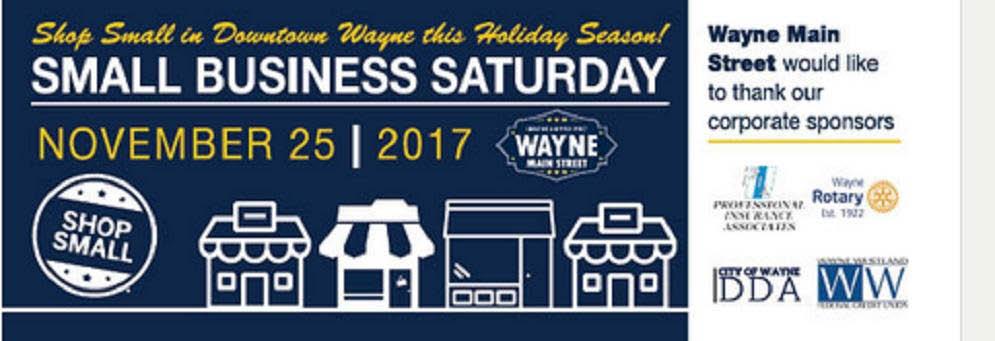 Wayne Main Street Small Business Saturday