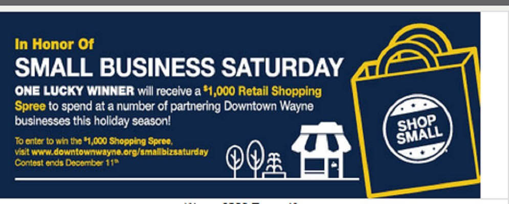 Wayne small business Saturday contest