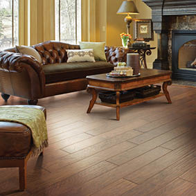 Vinyl Laminate Flooring In Living Room. Easy Cleaning And Durable Home  Flooring