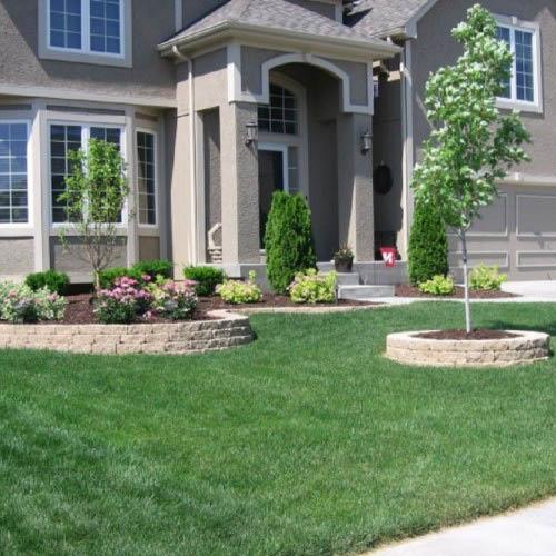 Beautiful front yard landscaping.