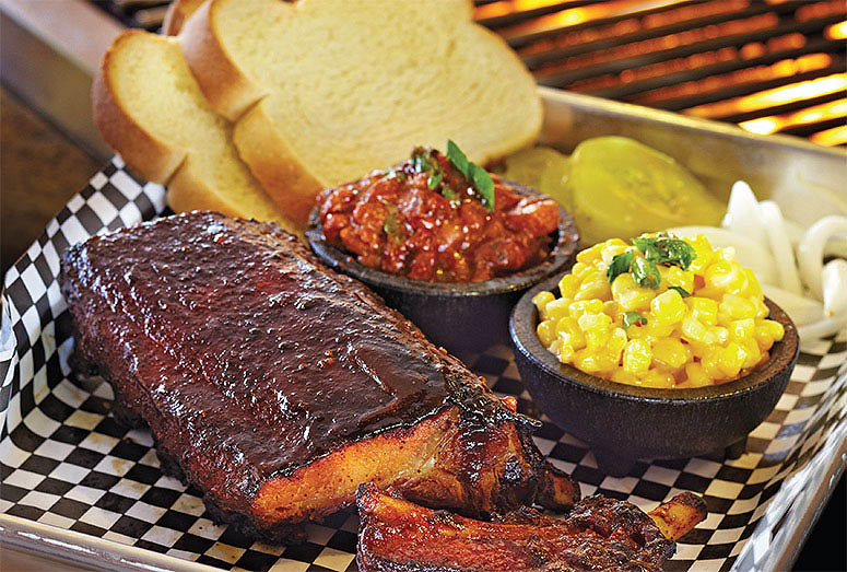 Slow smoked side ribs and sides near College of the Desert