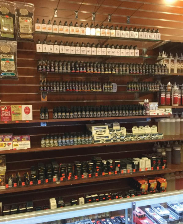 variety of vape juice and flavors