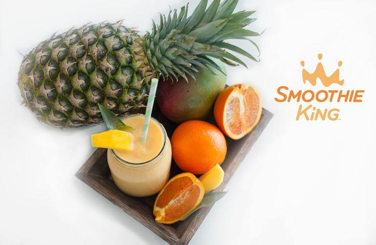 Delicious fruit Smoothie with citrus and pineapple for vitamin C