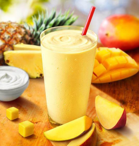 Greek yogurt Pineapple Mango Smoothie at Smoothie King.