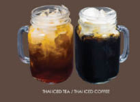 Thai iced coffee and Thai iced tea; Thai Dishes Wilshire