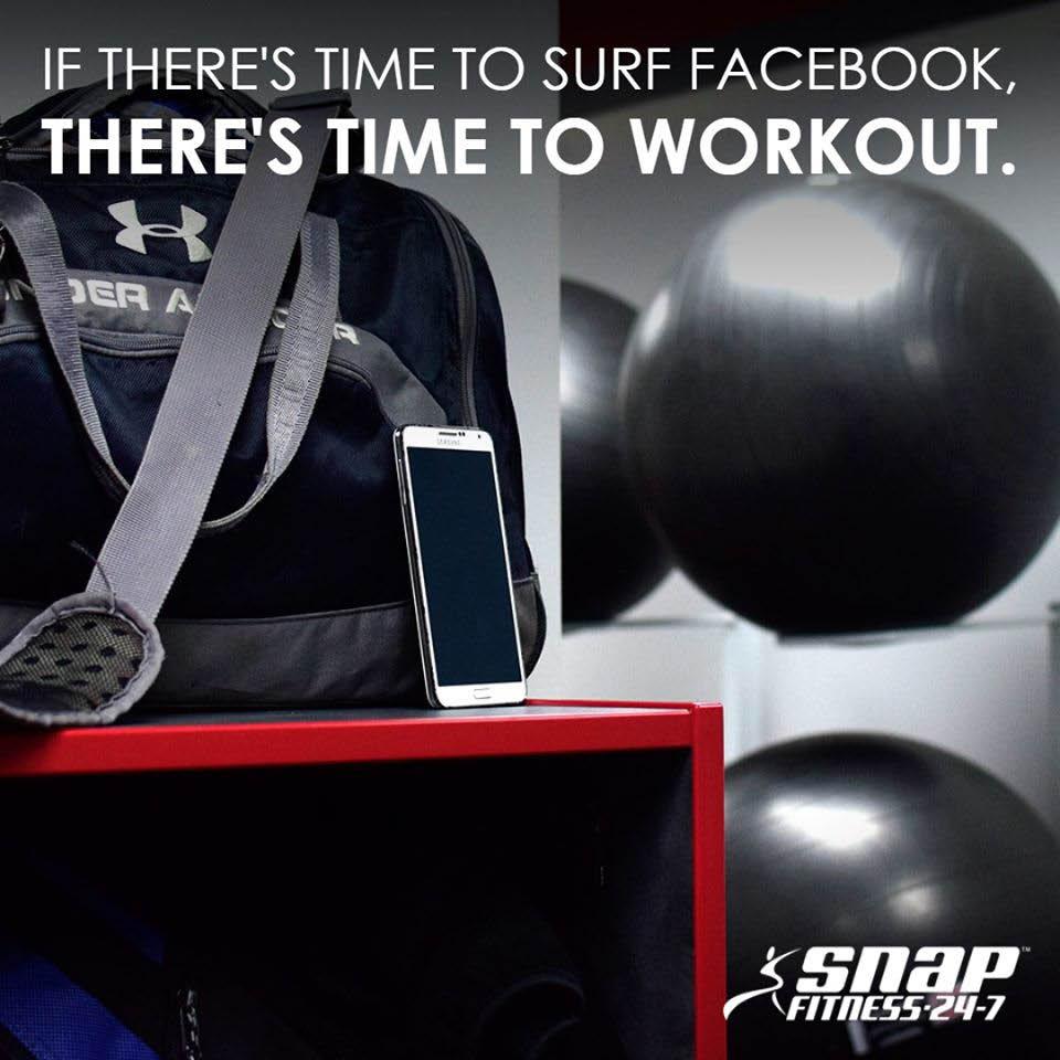 Snap Fitness workout motivation advertisement