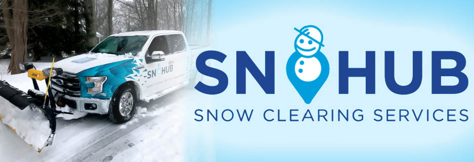 SnoHub snow clearing and plowing services banner image