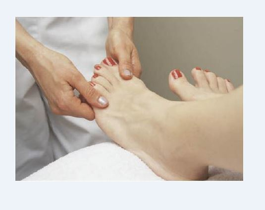 Natural foot massage can help leg and foot circulation