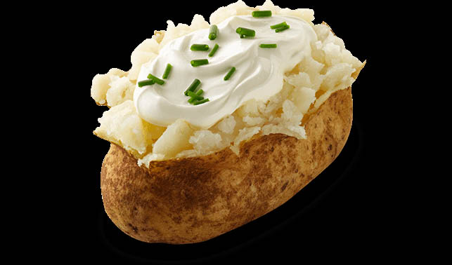You can turn our sour cream baked potato into an entire meal by itself