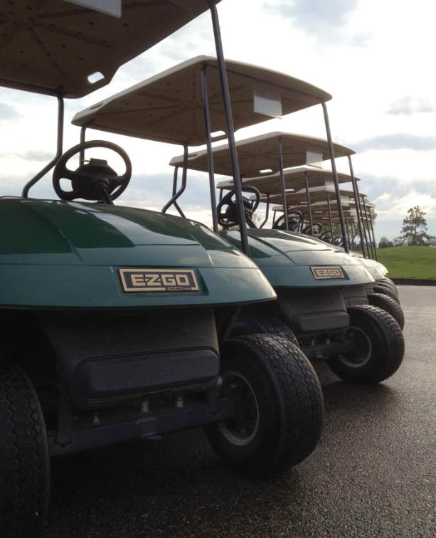 Golf carts allow you to enjoy the golf course scenery