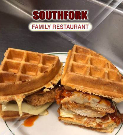 Hot sandwiches served after 10am at Southfork Family Restaurant.