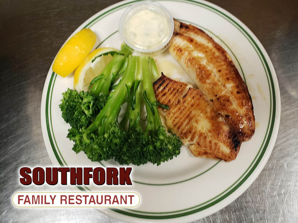 .Looking for a lighter dinner, try our broiled tilapia entree
