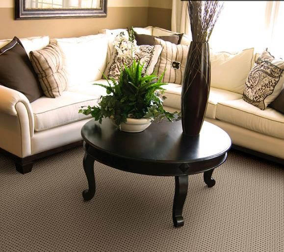 Beautiful sitting room carpet by Southwind carpet mills.