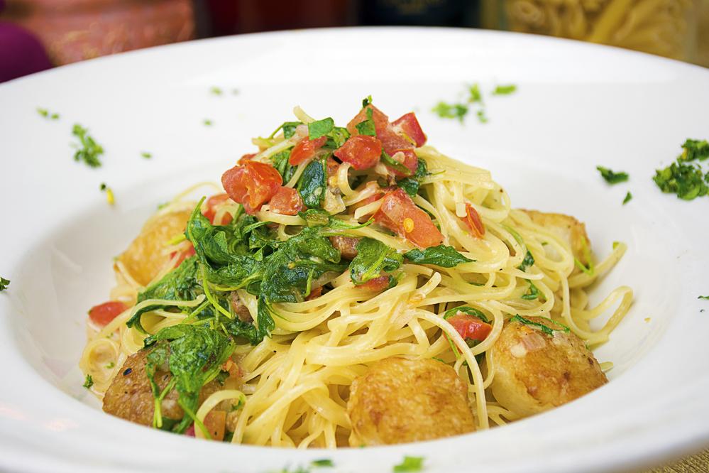 scallops spaghetti eddie's cucina italiana glendora, ca