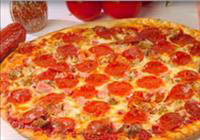 Extra large pepperoni pizza made on classic hand tossed pizza crust