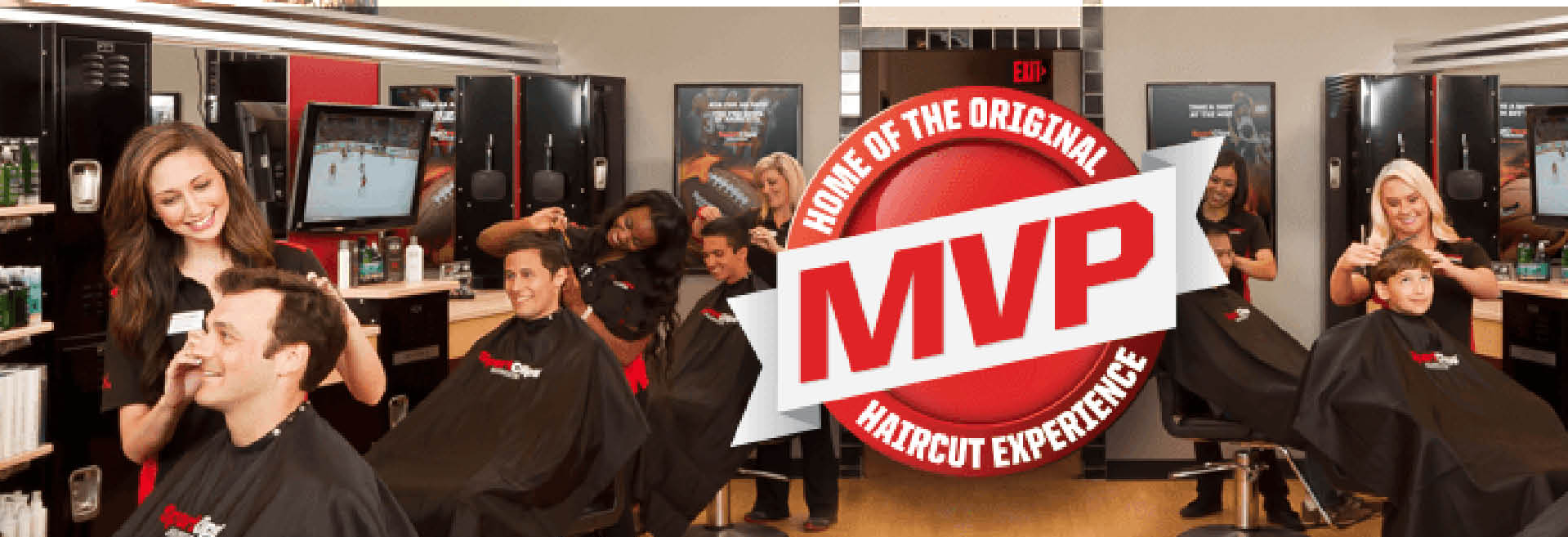 Sport clips Mens Haircuts in Glendale, WI on Milwaukee's North Shore banner.