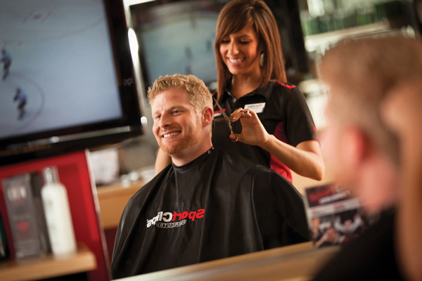 Boy's hair cut  in Oak Creek, WI has an Sports Environment