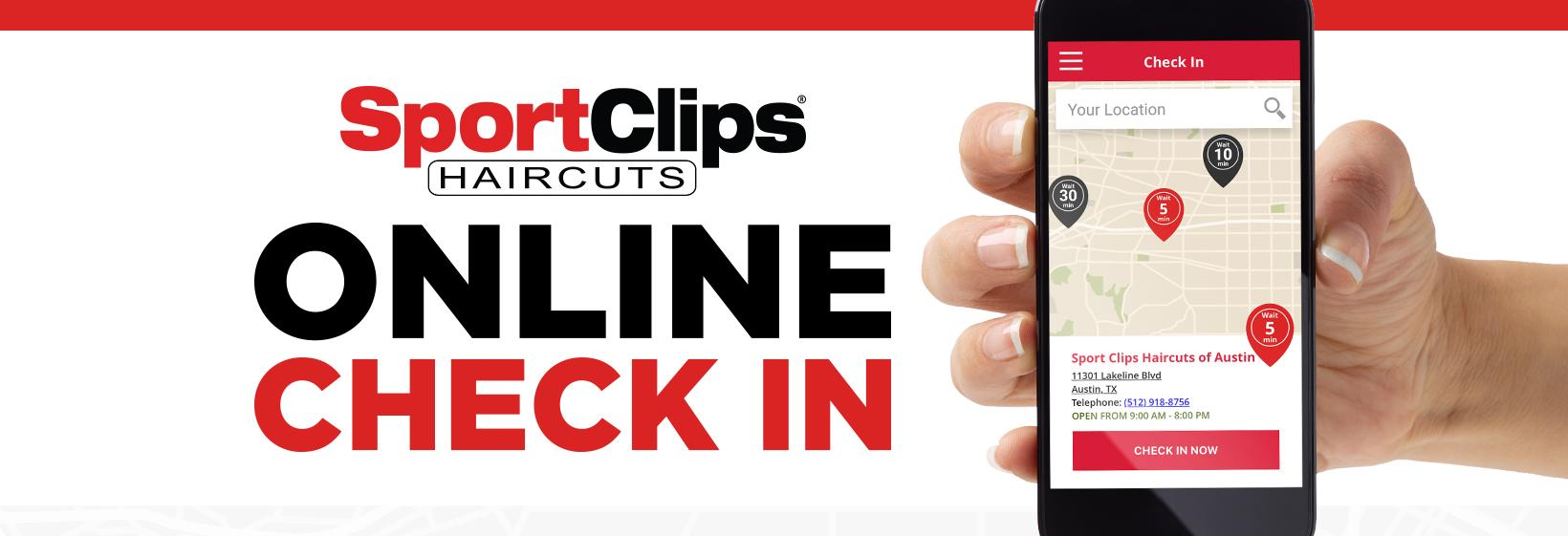 SportClips Haircuts online check-in using a smartphone