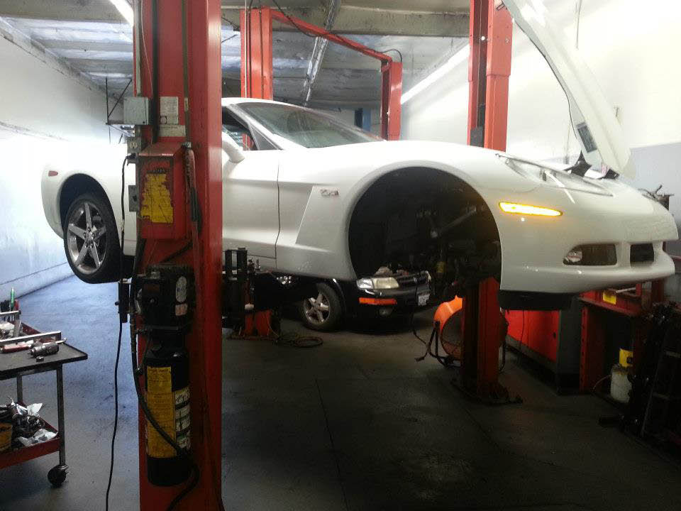 ASE certified technicians work on car repair services at South County Brake.