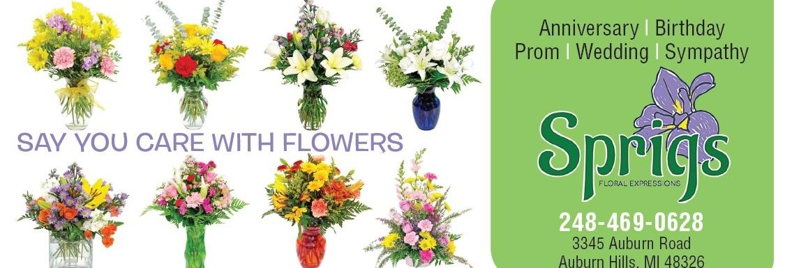 Sprigs Floral Expressions in Auburn Hills, MI banner