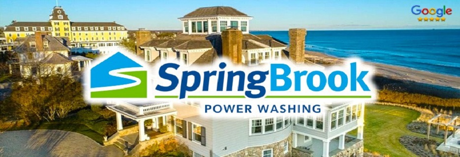 Springbrook Power Washing banner Westerly, RI