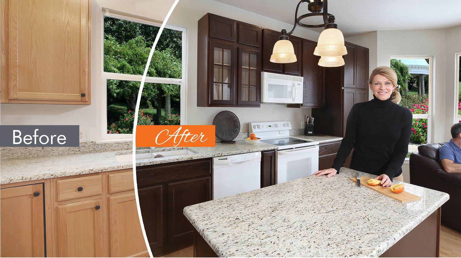 NHance kitchen cabinets wood painting and refinishing Hendersonville
