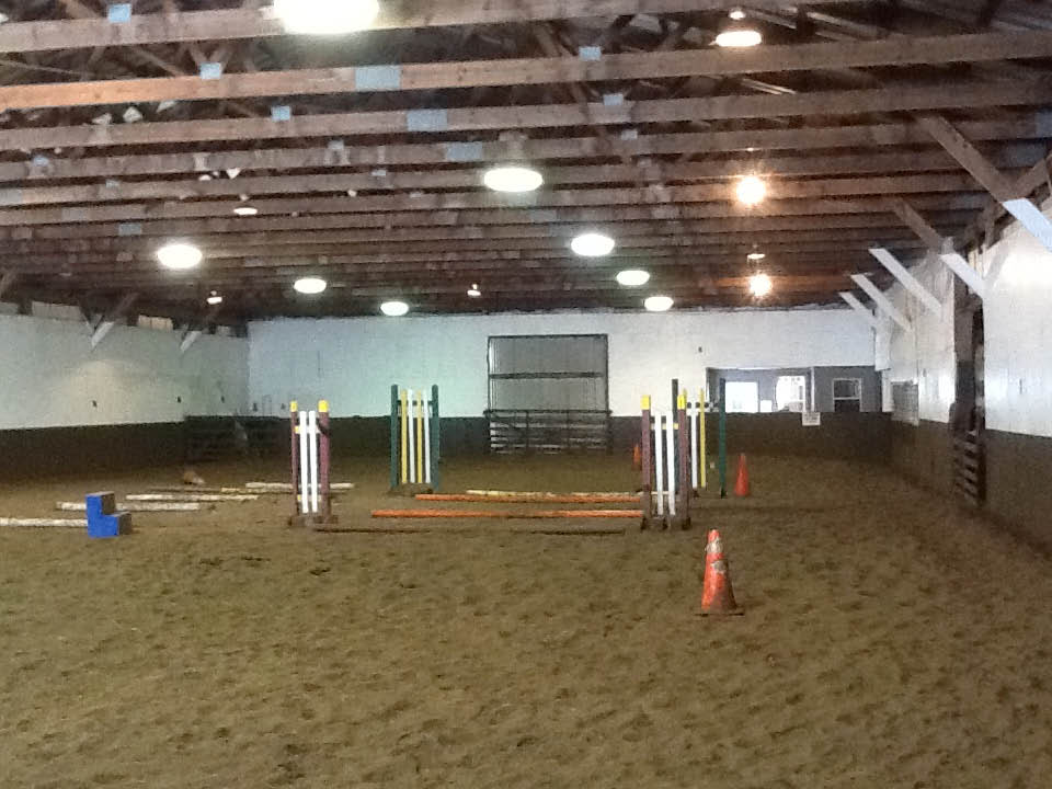 Part of our indoor facility at Spring Valley Equestrian Center in Newton NJ