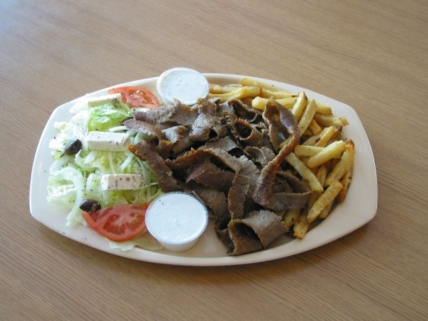 Lunch platter from Squabs Gyros