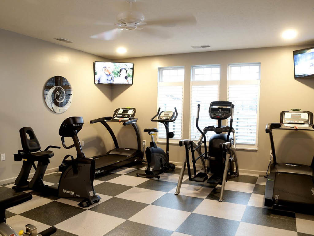 The Square at Latham Park workout room