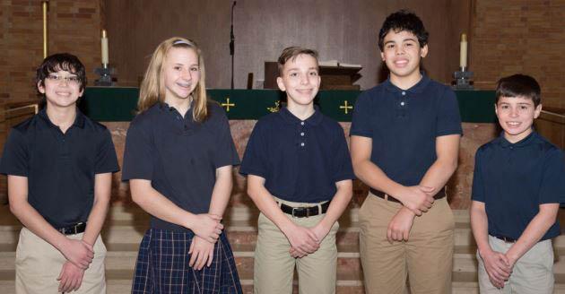 National Junior Honor Society at St. Linus School.