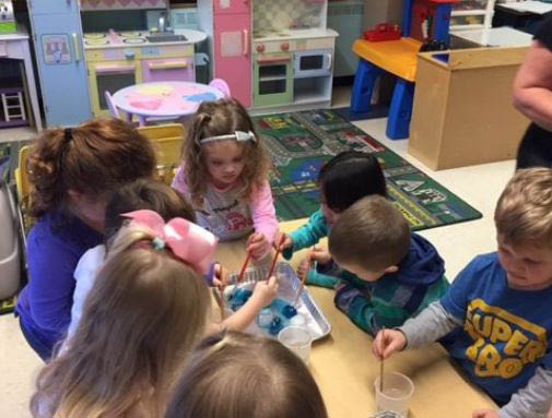 Preschool fun at St. Linus Catholic School.