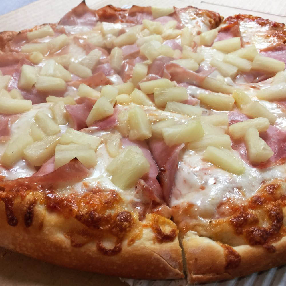 hawaiian pizza ham pineapple