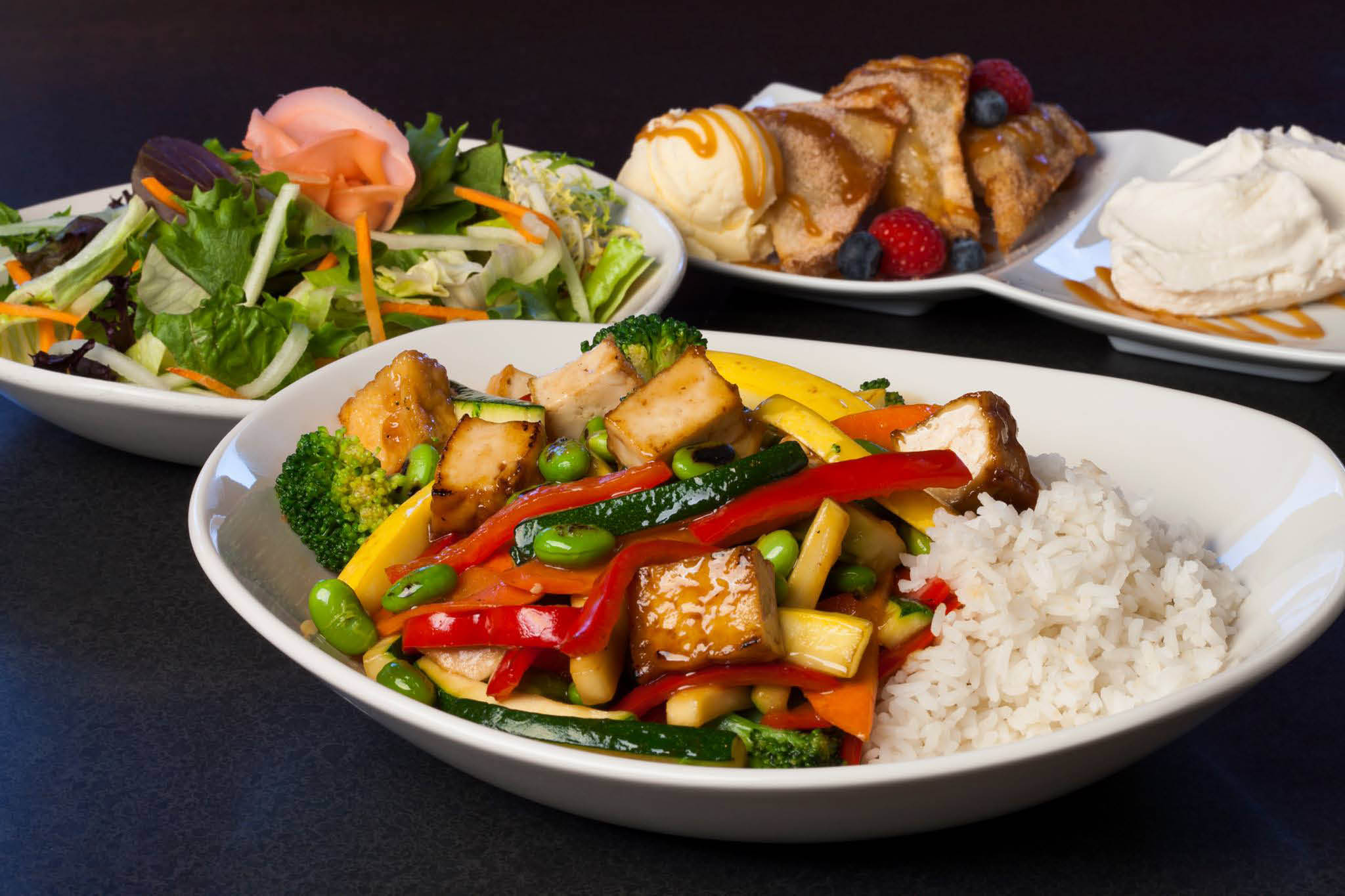 Photo of Asian plates of food from Stir Crazy near Elm grove, WI