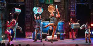 The Stomp musical features dancing, drama and music