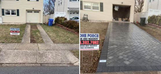 patio, driveway, stairs, walkway, curb appeal, house, landscape