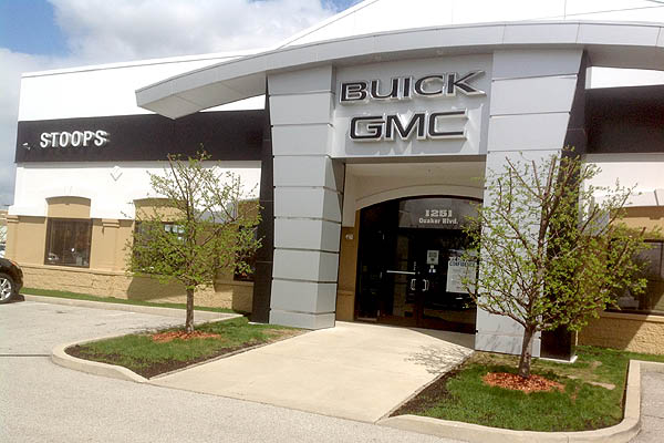Stoops Buick GMC Building, location, Highway 267, Plainfield IN