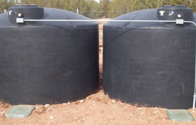 Above or below ground water storage tanks are available.