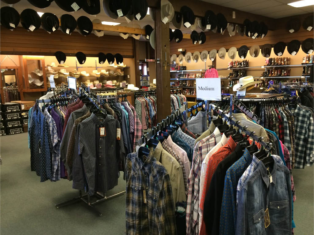 Large selection of cowboy/western wear for everyone!