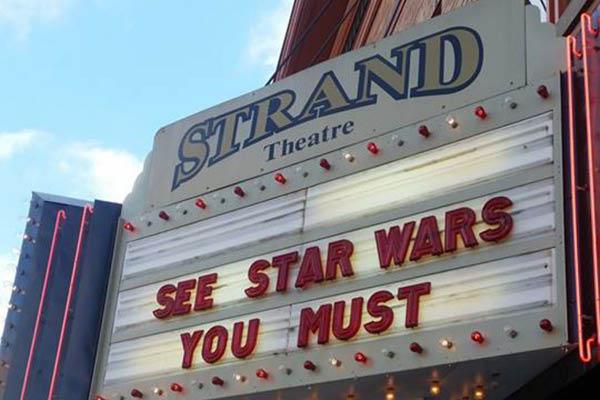 Strand Theatre in downtown Delaware, Ohio