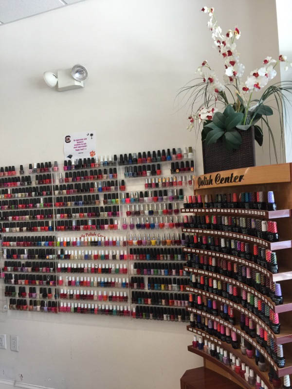 Hundreds of nail polish colors to choose from