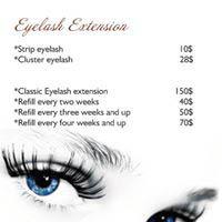 Stylist By Nails eyelash Price list