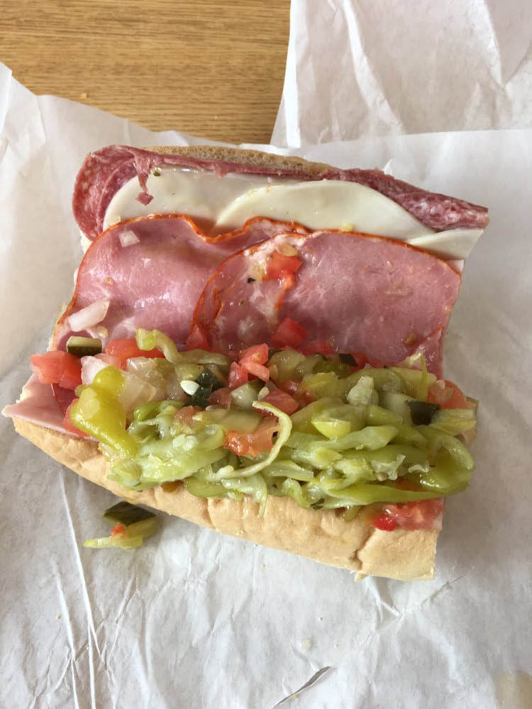 Sub sandwich at sub shop near Indian Wells, CA