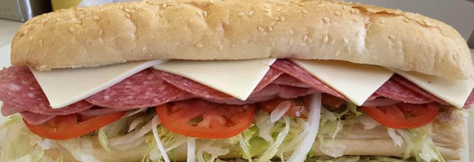Yummy salami sub at Submarine City.