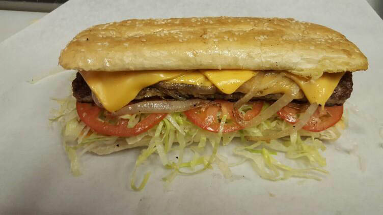 Try Submarine City's Ribeye Steak Sandwich.