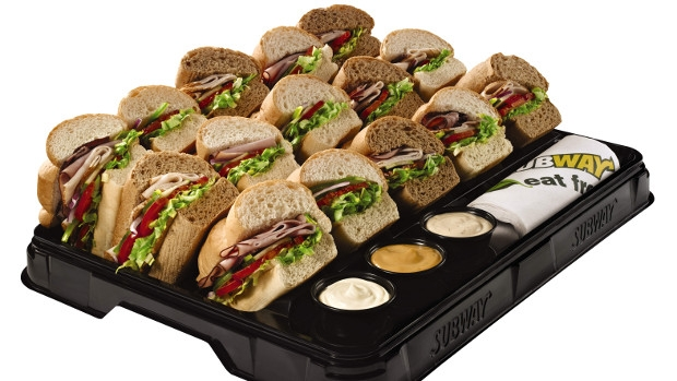 Try a Subway catering tray for your next meeting.