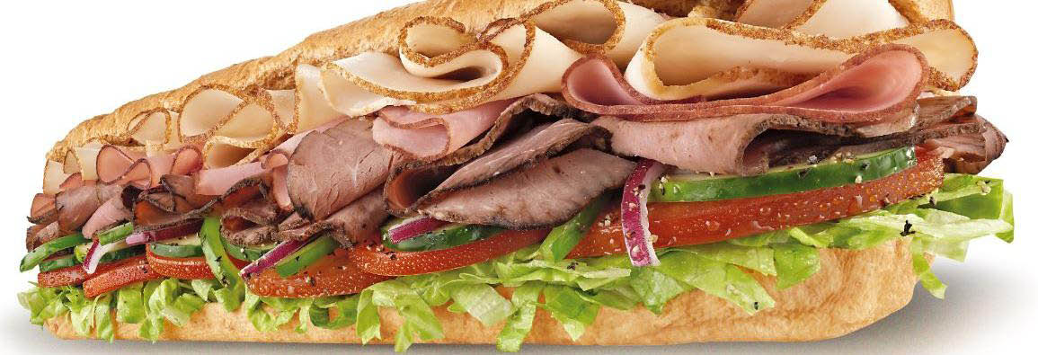 Subway Club sandwich now available.
