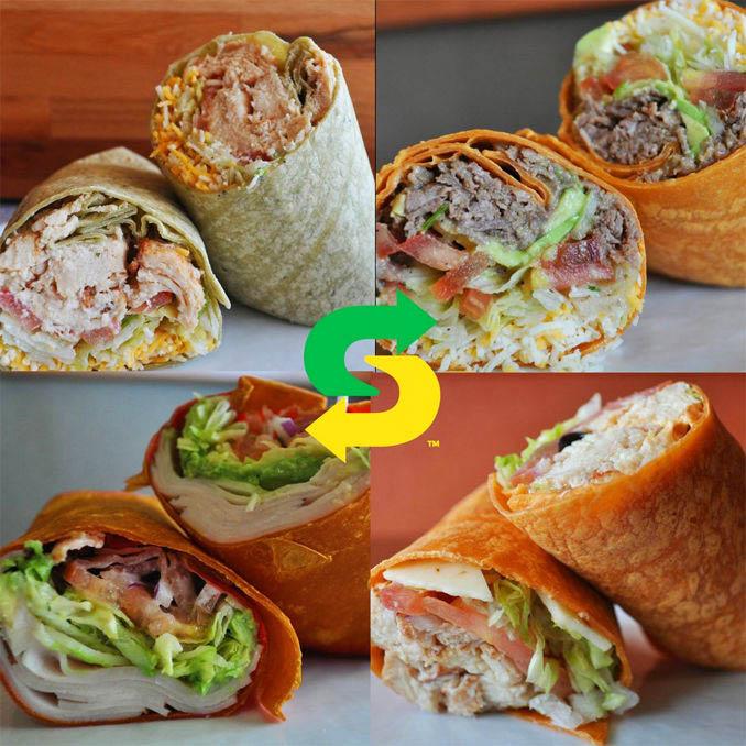 wraps, sandwich shop