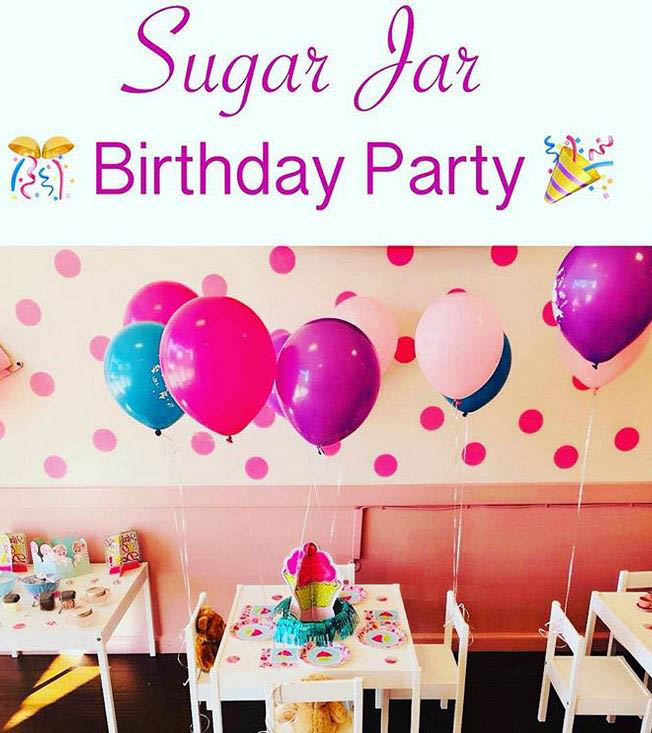 Kids can make their own cakes at a Sugar Jar Birthday Party