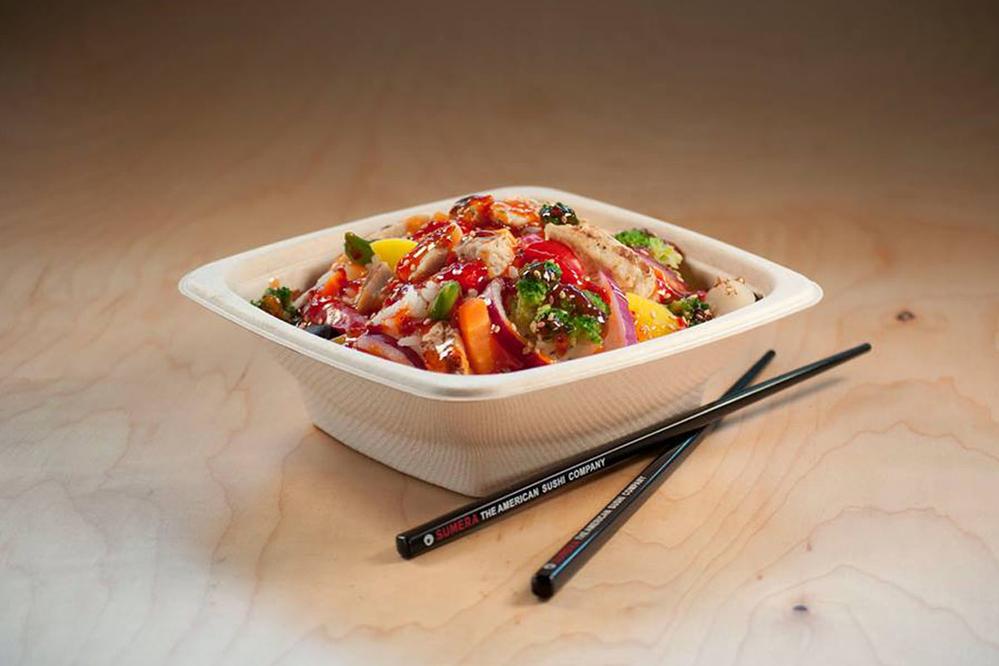 Sushi En quick service bowl.
