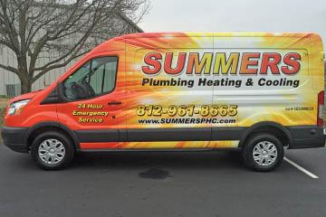 Summers Plumbing Van